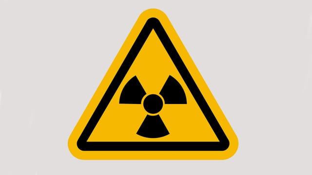 Darstellung eines Warnschildes vor Radioaktivität.