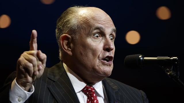 Rudolph Giuliani war Bürgermeister in New York City und ist derzeit der persönliche Anwalt von Donald Trump.