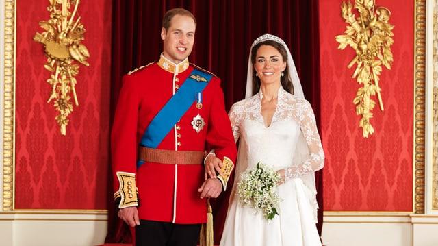 Frisch vermählt: Prinz William und seine Kate