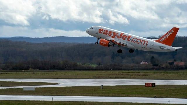Flugzeug im Abflug
