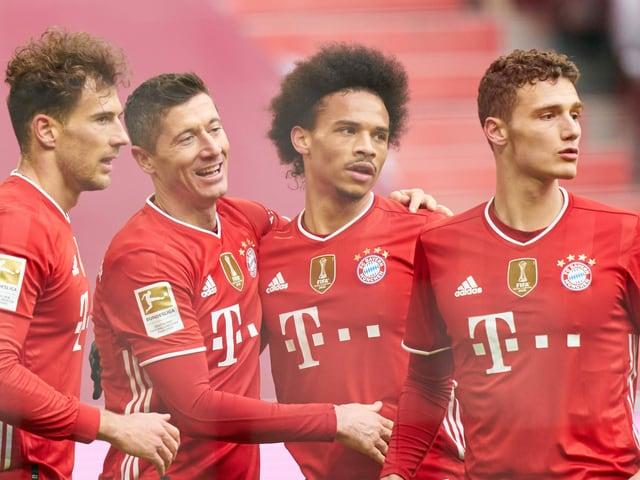 Lewandowski und Bayern Spieler