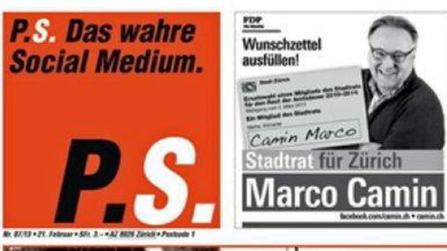 P.S. Titelbild mit Marco Camin-Werbung