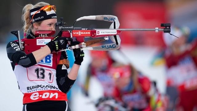 Elisa Gasparin beim Weltcup in Ruhpolding vergangenen Winter.