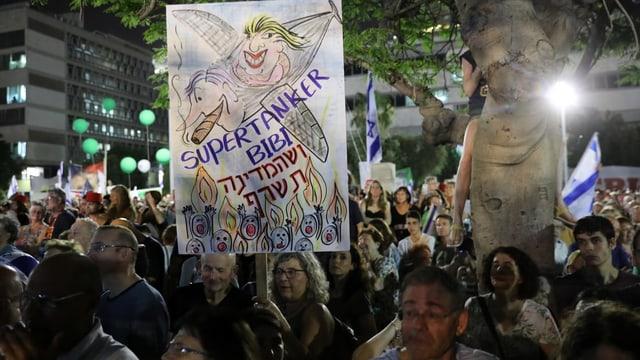 Proteste gegen Netanjahu in Tel Aviv.