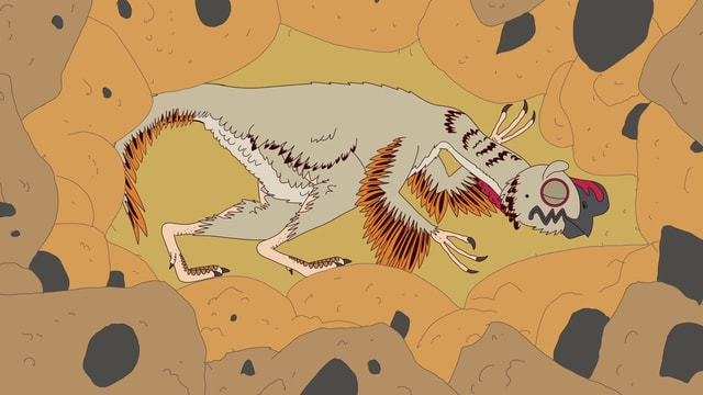 Video «Ralph und die Dinosaurier: Citipati (3/26)» abspielen