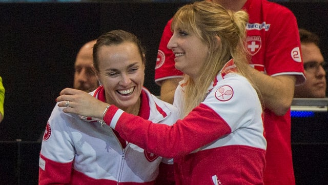 Martina Hingis und Timea Bacsinszky.