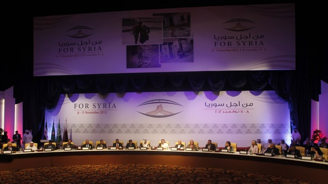 Treffen der «Nationalen Koalition» in Syrien.