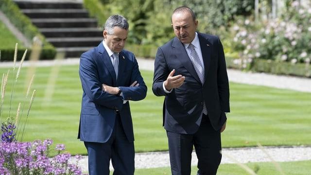 Bundesrat Cassis und der türkische Aussenminister Cavusoglu