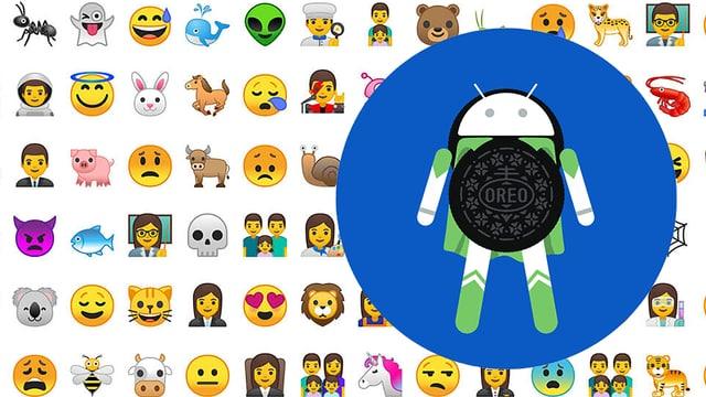 Emojis und das Android-Oreo-Logo
