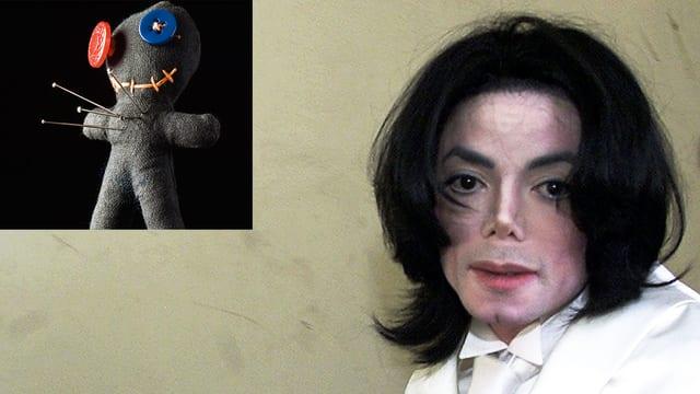 Michael Jackson und Voodoo-Puppe.