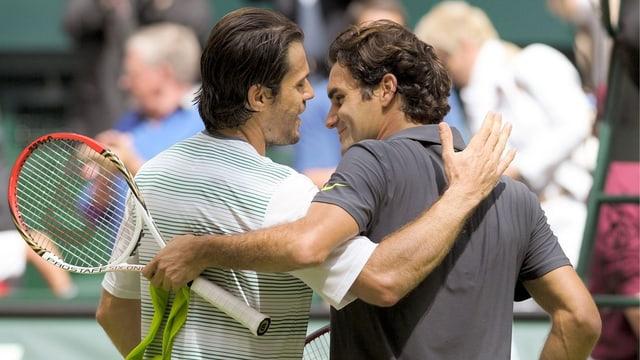 Tommy Haas (links) und Roger Federer kennen sich bestens.