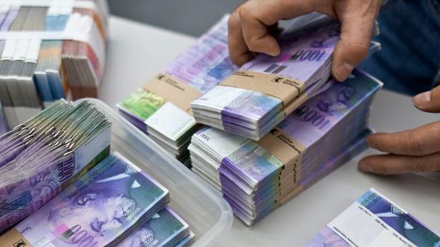 Bündel mit Banknoten