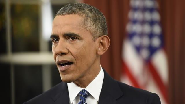 Obama bei seiner Rede an die Nation.