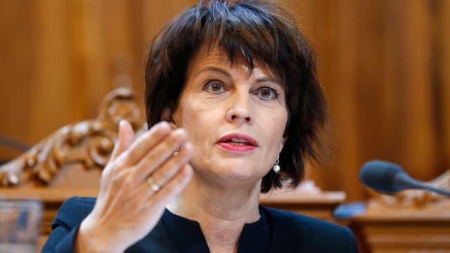 La presidenta da la confederaziun - Doris Leuthard.
