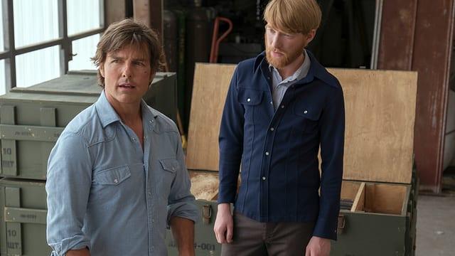 Tom Cruise als Barry Seal und Domhnall Gleeson als sein CIA-Kontakt Monty Schafer.