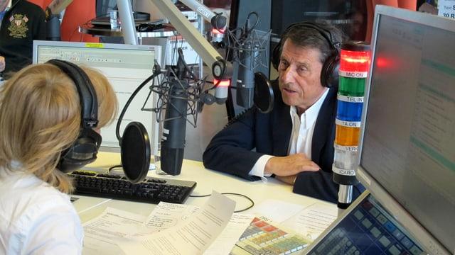 Udo Jürgens im Radiostudio