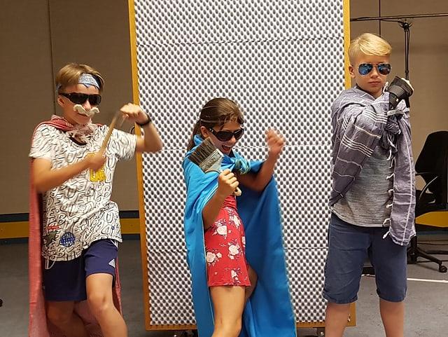 Drei Superhelden-Kids