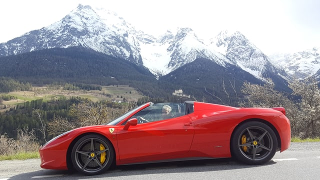 Walter Erni cul Ferrari 458 Spider