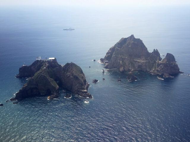 Die Dokdo-Inseln im Japanischen Meer.