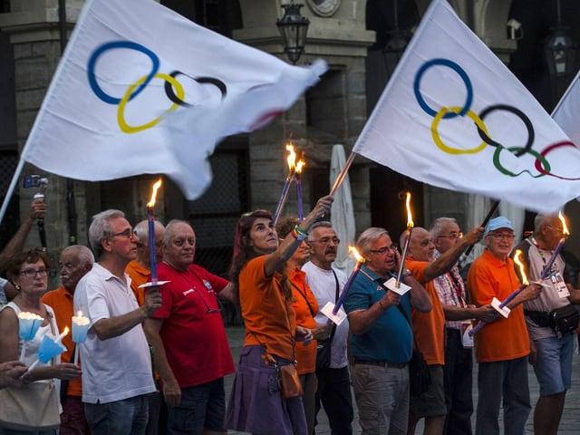 Pro-Olympia-Kundgebung