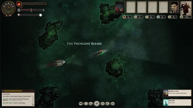 Spielszene aus «Sunless Sea»