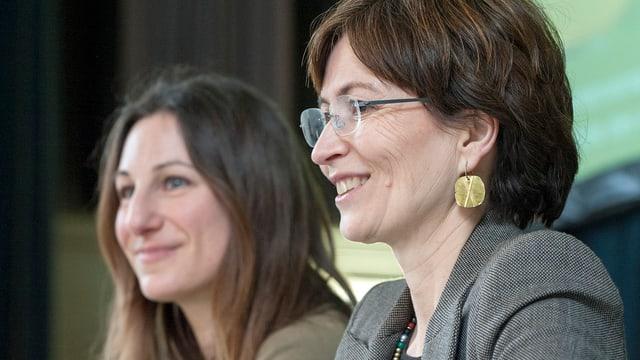 Adèle Thorens (VD) und Regula Rytz (BE)