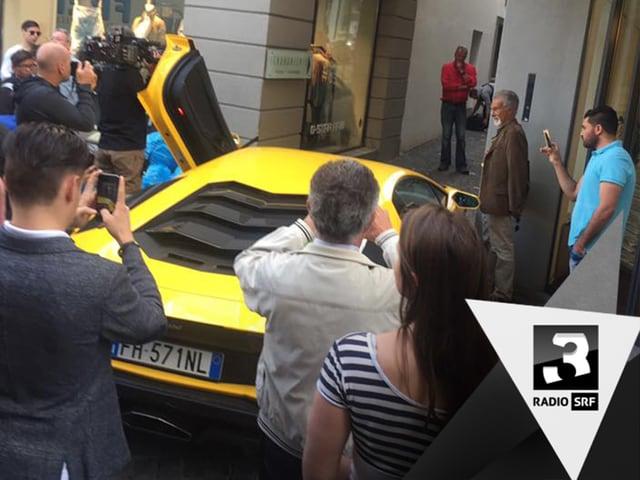 Passt der Lamborghini durch diese Luzerner Gasse?