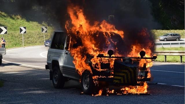 In auto che arda fermamain.