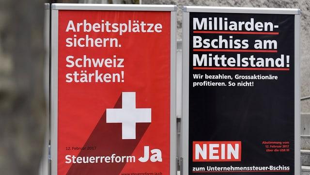 Plakate Unternehmenssteuerreform