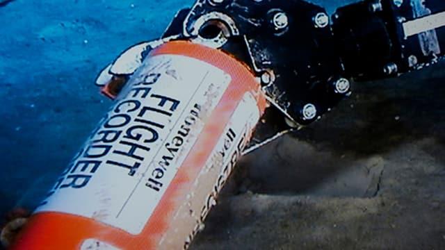Die Blackbox des Flugzeugs auf dem Meeresgrund.