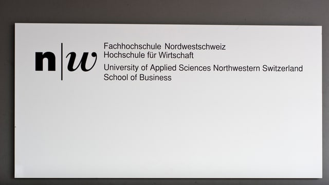 Schild Hochschule für Wirtschaft