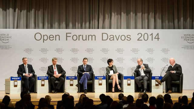 Von links: Didier Burkhalter, Harry Hohmeister, Boris Collardi, Andrea Bleicher, Felix R. Ehrat, Jean-Claude Biver