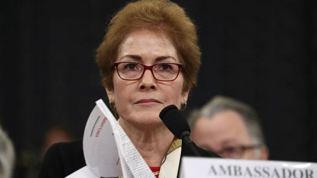 Die US-Botschafterin Marie Yovanovitch war für Donald Trump ein rotes Tuch.