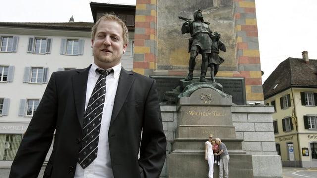 Der 36-jährige Schattdorfer Beat Arnold will die die Urner SVP in den Nationalrat.