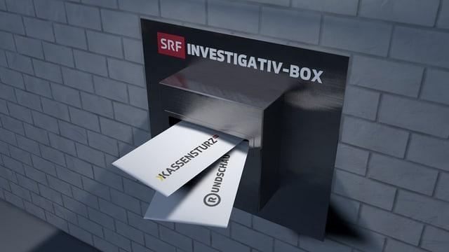 Briefkasten mit Post für Kassensturz und Rundschau