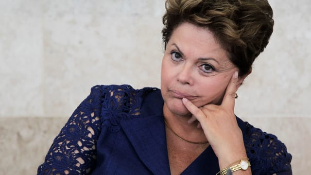 Eine nachdenkliche Dilma Rousseff.
