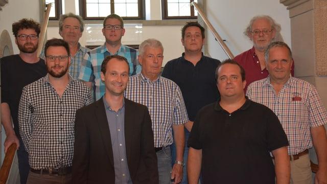 Davant: Reto Crameri, Roman Sommer; damez: Luzi C. Schutz, Urs Wenzel, Walter Sommer; davos:  Julian Reich, Gion Rudolf Caprez, Giancarlo Lozza,Marc-Andrea Barandun, Matthias Müller.