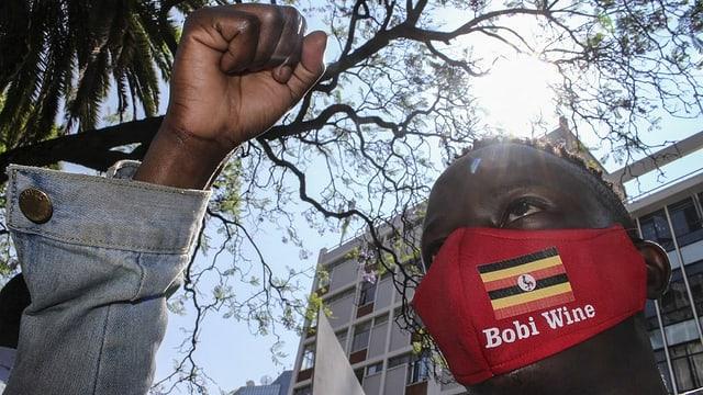Bobi Wine-Unterstützer.