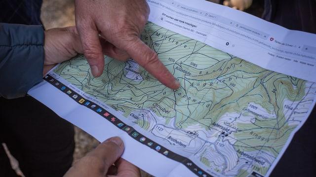 Karte mit dem Toppwald in Konolfingen