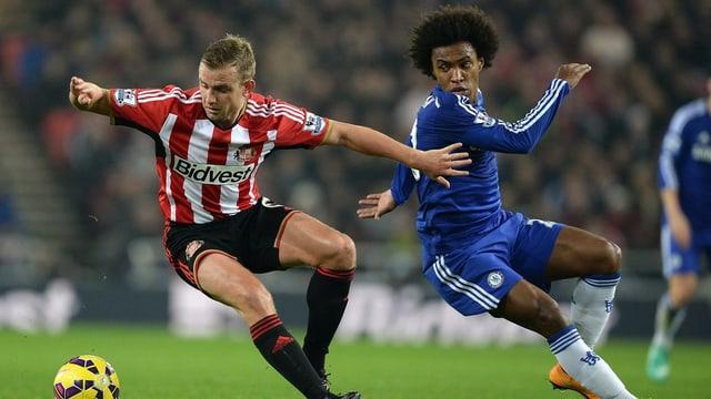 Chelsea mit Angreifer Willian (rechts).