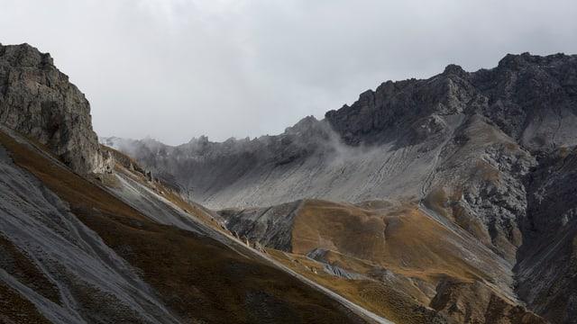 Totale auf eine Berglandschaft