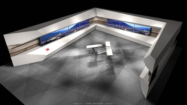 19-01, Cuira - Il nov studio da televisiun RTR.