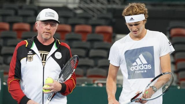 Boris Becker und Alexander Zverev.
