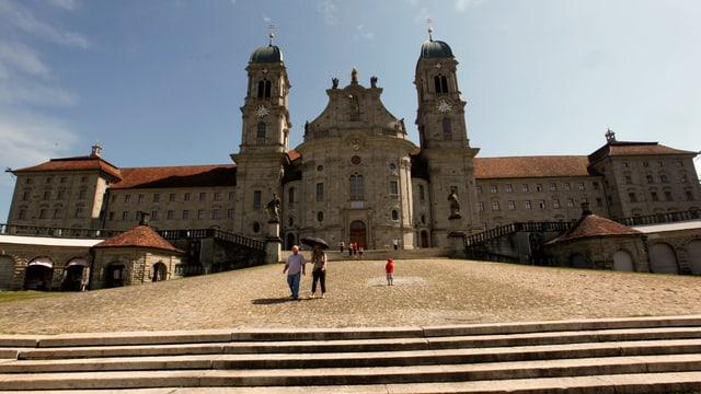 Die Klosterkirche von Einsiedeln (Archivbild): Sie soll bei einem Brand effizient geschützt werden können.