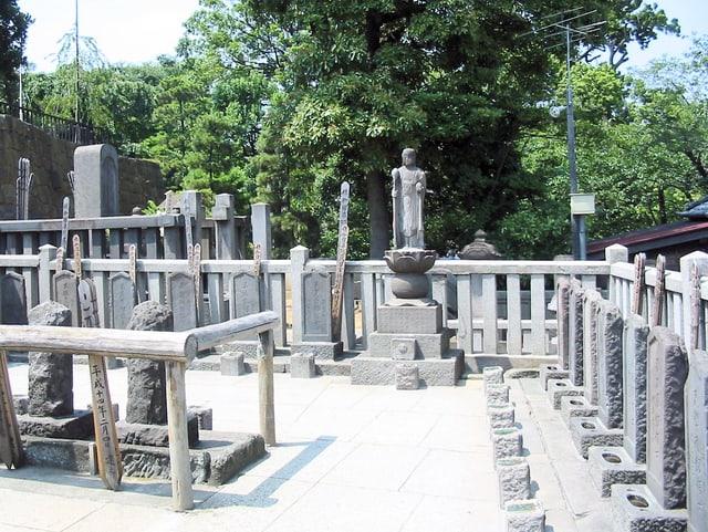 Gräber der 47 Krieger im Sengaku-ji-Tempel in Tokyo.