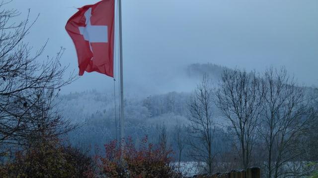 Angezuckerte Hügel im Thurgauer Tannzapfenland.