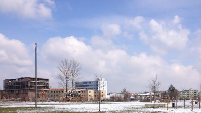Neue Häuser im Eulachpark: Hier ist das neue Zentrum schon Wirklichkeit.