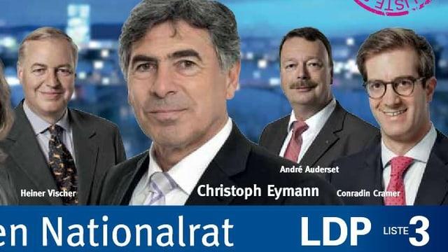 Wahlplakat der Basler Liberalen.