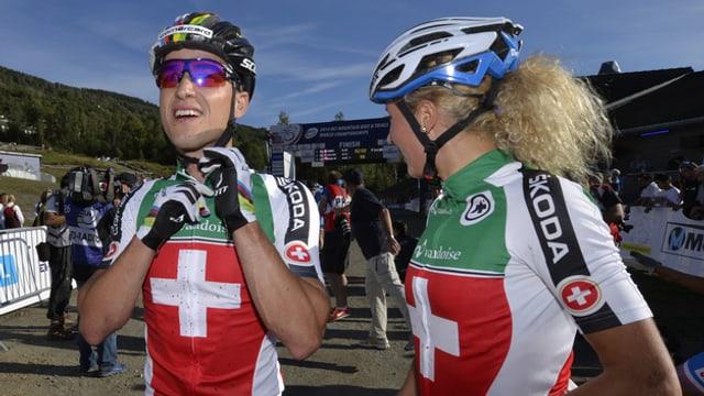 Mountainbikers svizzers.
