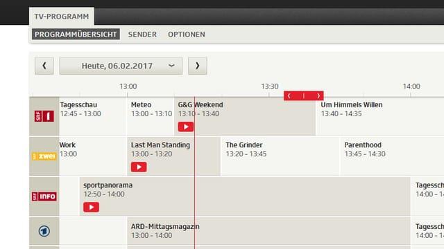 Das neue online TV-Programm auf srf.ch.